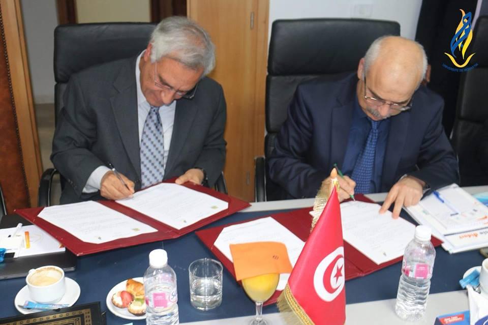 جامعة المنستير التونسية توقع نواة شراكة مع المتحدة للتعليم